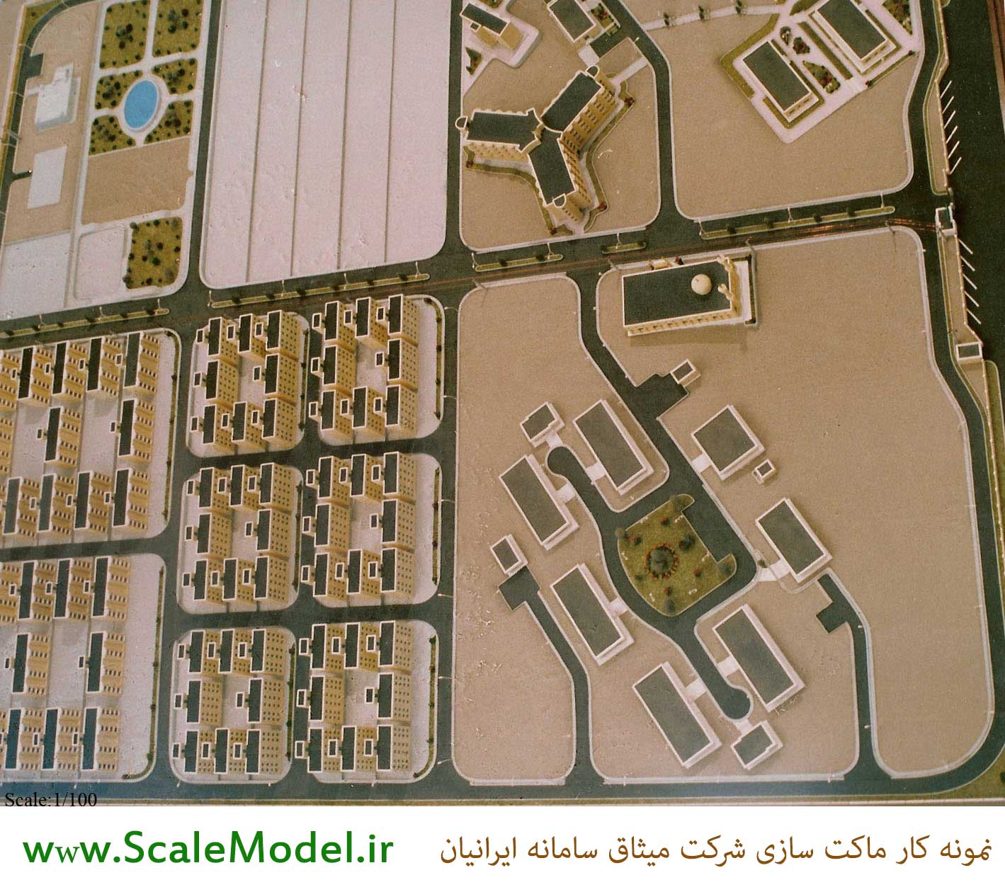 ماکت شهرک ساختمانی و شهرک مسکونی از نمای بالا ساخته شده توسط شرکت میثاق سامانه ایرانیان ماکت شهرک مسکونی ماکت شهرک مسکونی پروژه ماکت ساختمان سازی